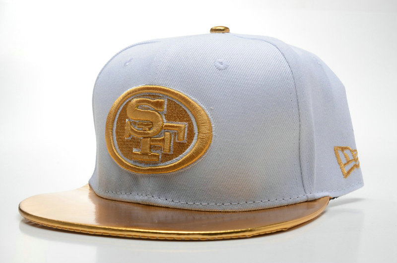 San Francisco 49ers White Snapback Hat SD